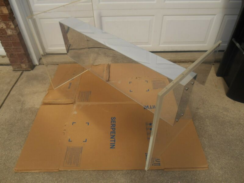 $475 • Buy Mid Century Modern Lucite / Acrylic & Glass Dining Table Base