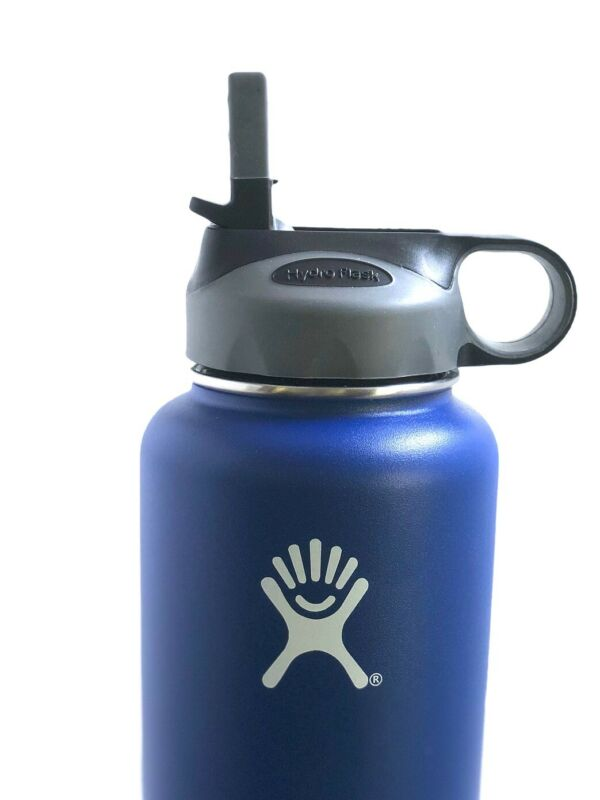 $5.99 • Buy Hydro Flask Straw Lid Fits All Wide Mouth 18 Oz, 32 Oz, 40 Oz 64 Oz, Grey/Black
