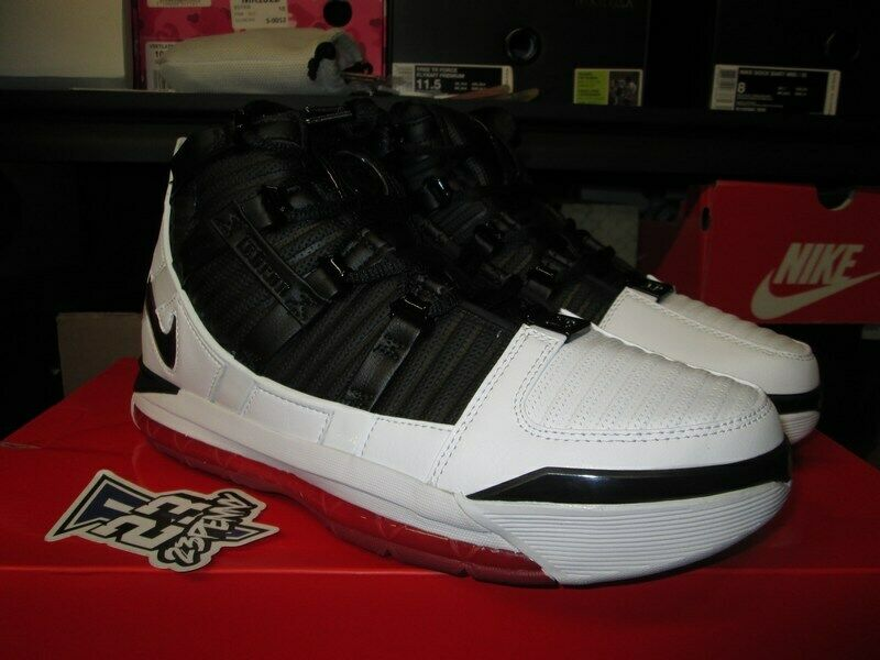 262d7a078190c9 Sale Nike Zoom Lebron 3 Iii Black Red White Home Qs Ao2434 101 New Mens  James
