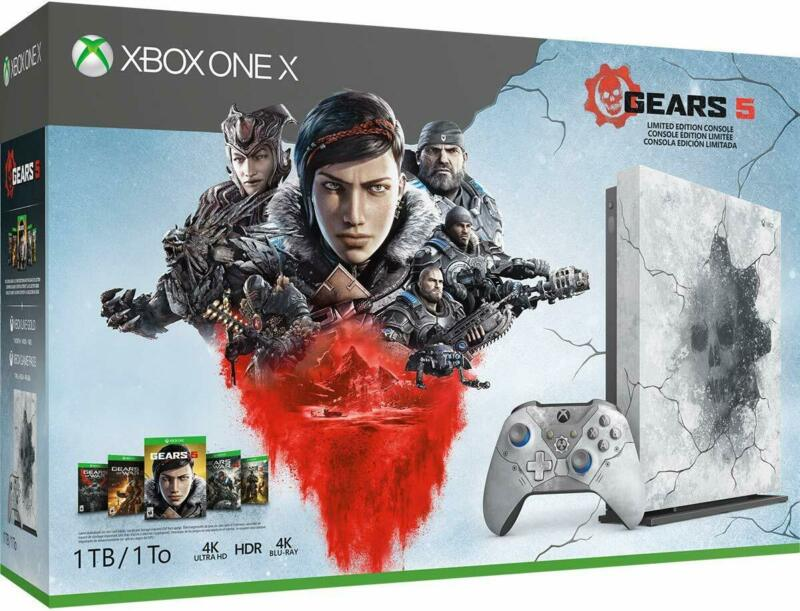 Xbox One X 1TB Console - Gears 5 Limited Edition Bundle White • 379.94$