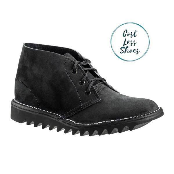 AU155 • Buy 4046 Rossi Boots Ripple Sole Desert Boot Black Suede