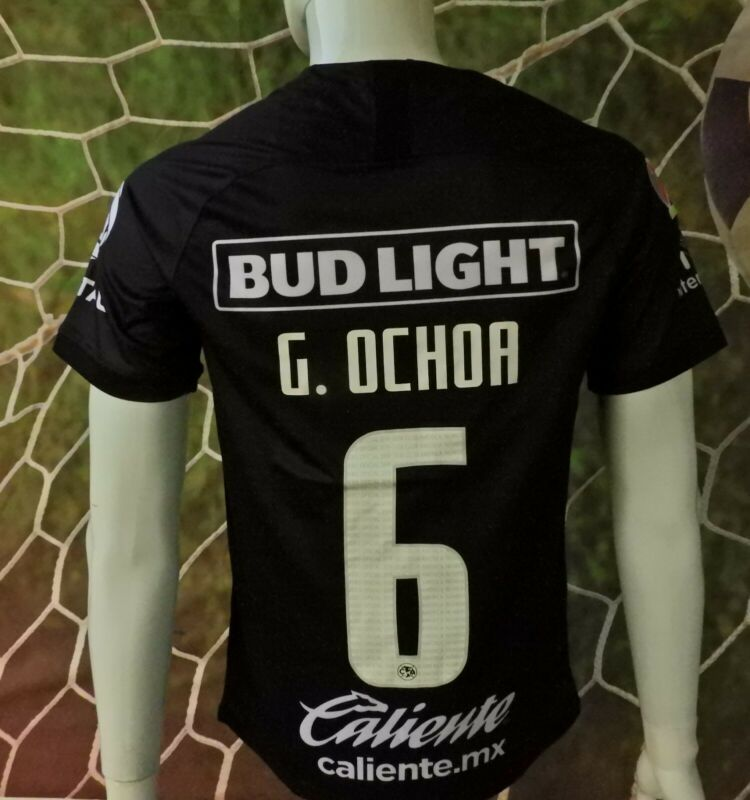 $32.95 • Buy Liga Mx Club America #06 Ochoa Black Jersey 2019/2020