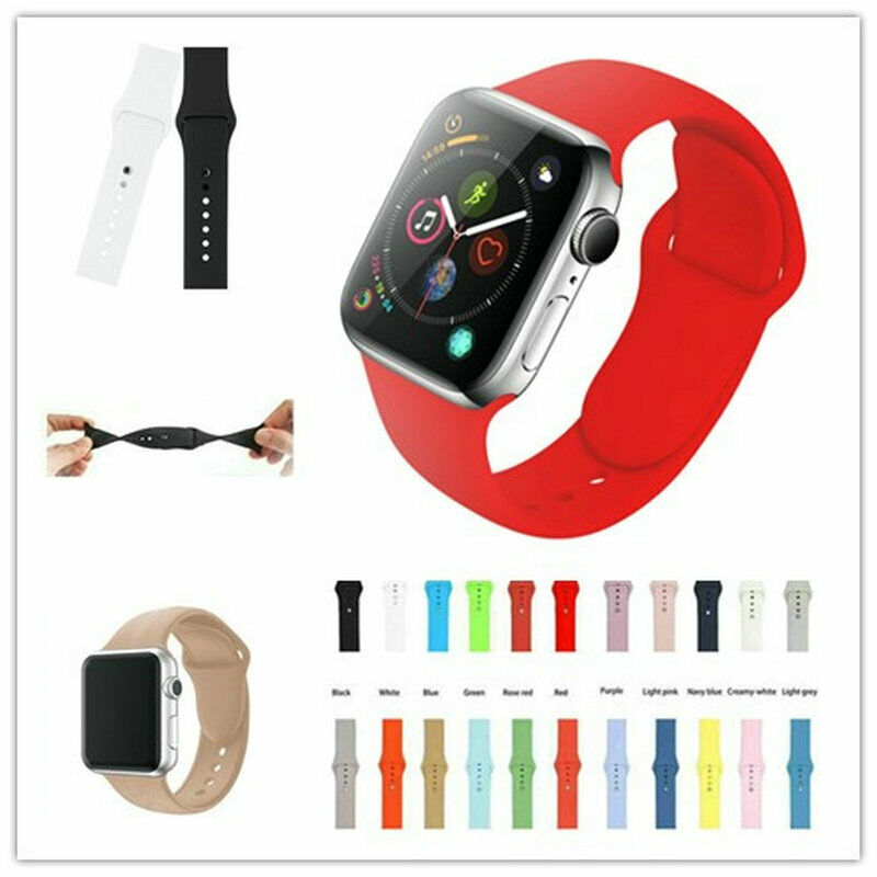 $ CDN3.27 • Buy Silicone Band Bracelet Strap Sports Bands For Apple Watch IWatch Series 1 2 3 4