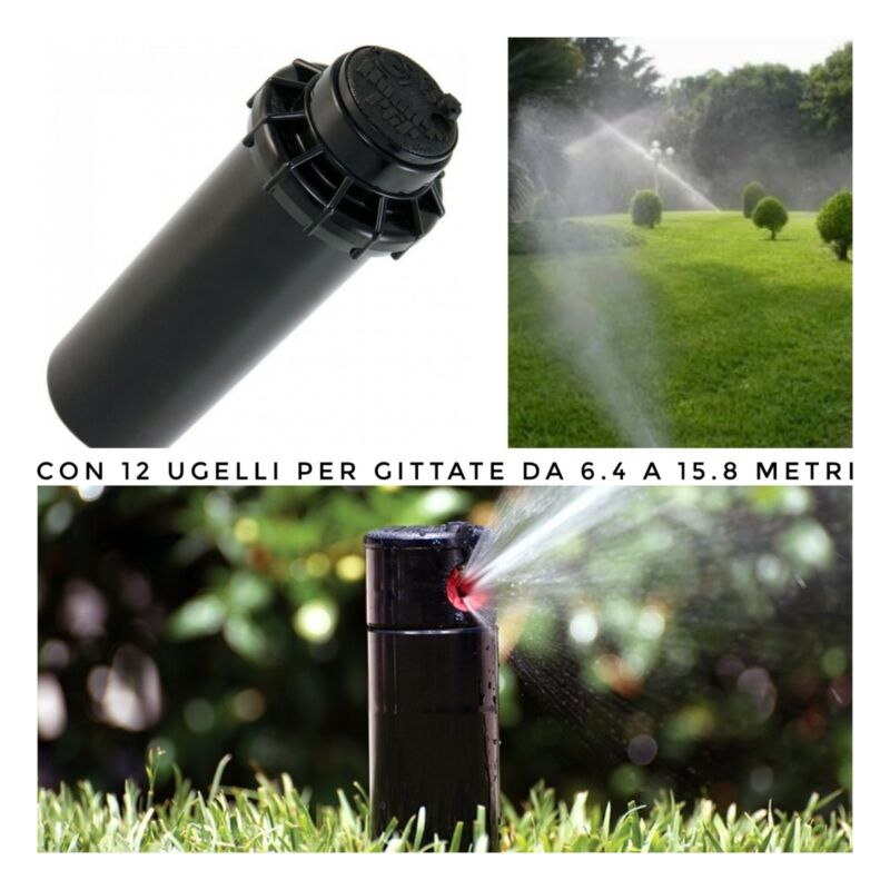 POP UP DINAMICO IRRIGATORI 10cm Irrigatore a turbina Hunter PGP ACQUAVERDE