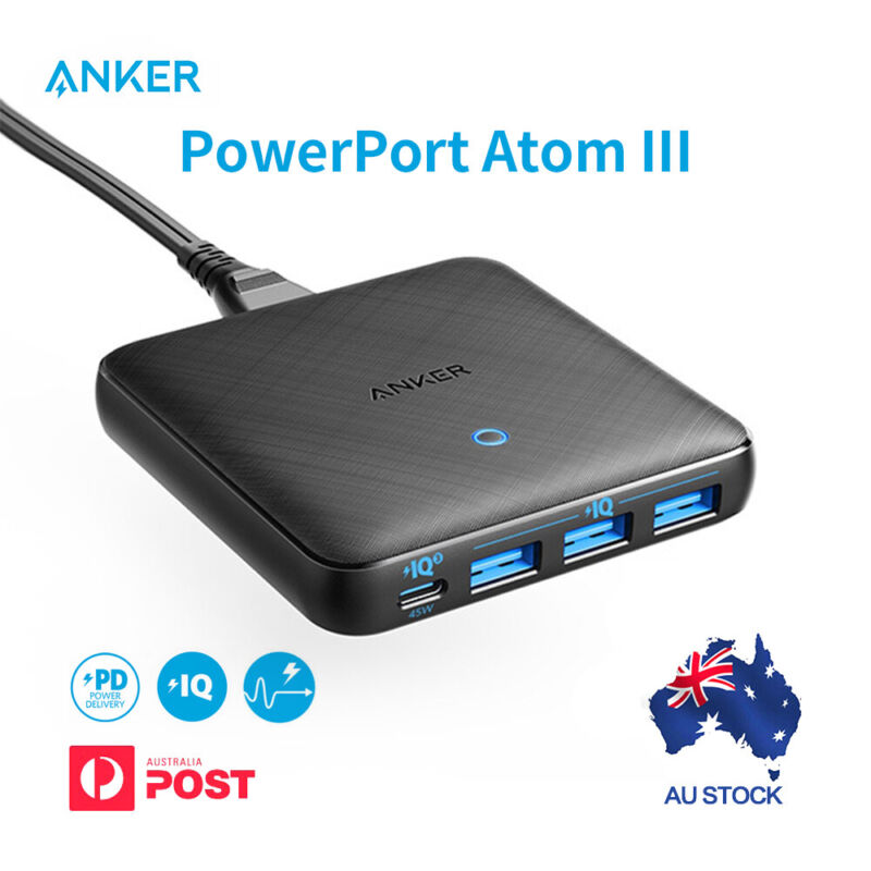 AU62.99 • Buy Anker Powerport Speed 5-2x Quick Charge 3.0 Ports 63W PowerIQ USB Wall Charger