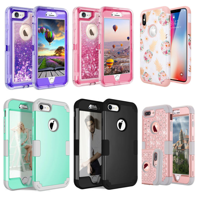 AU9.89 • Buy IPhone X 6 6S 8 7 Plus XS Max Case Hybrid Hard Heavy Duty Shockproof Armor Cover