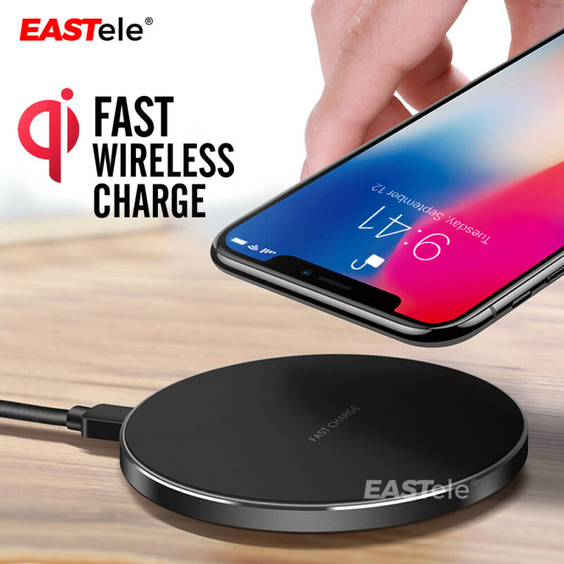 AU12.99 • Buy Qi Wireless Charger FAST Charging Pad Receiver For IPhone 11 XS XR 8 Samsung S10