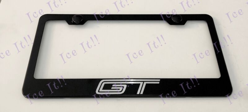 GT MUSTANG GT 350 Stainless Steel Metal Black License Plate Frame Rust Free • 12.99$