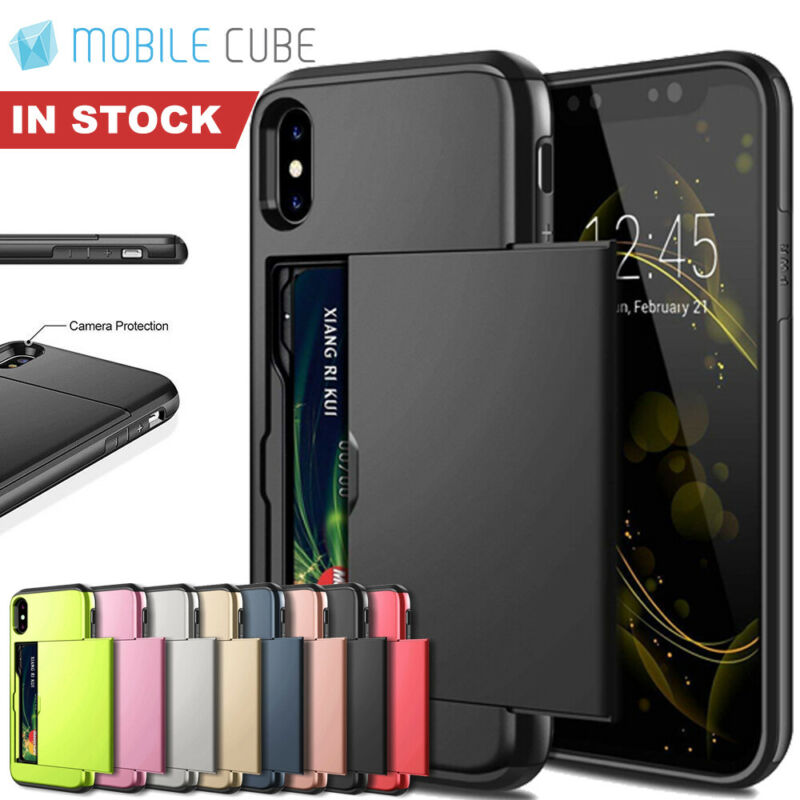 AU8.95 • Buy IPhone X XS Max XR IPhone 8 Plus IPhone 7 Plus MC Wallet Card Holder Case Cover