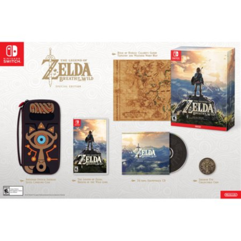 Nintendo Switch Legend Of Zelda: Breath Of The Wild - Special Edition - OBN READ • 139.99$