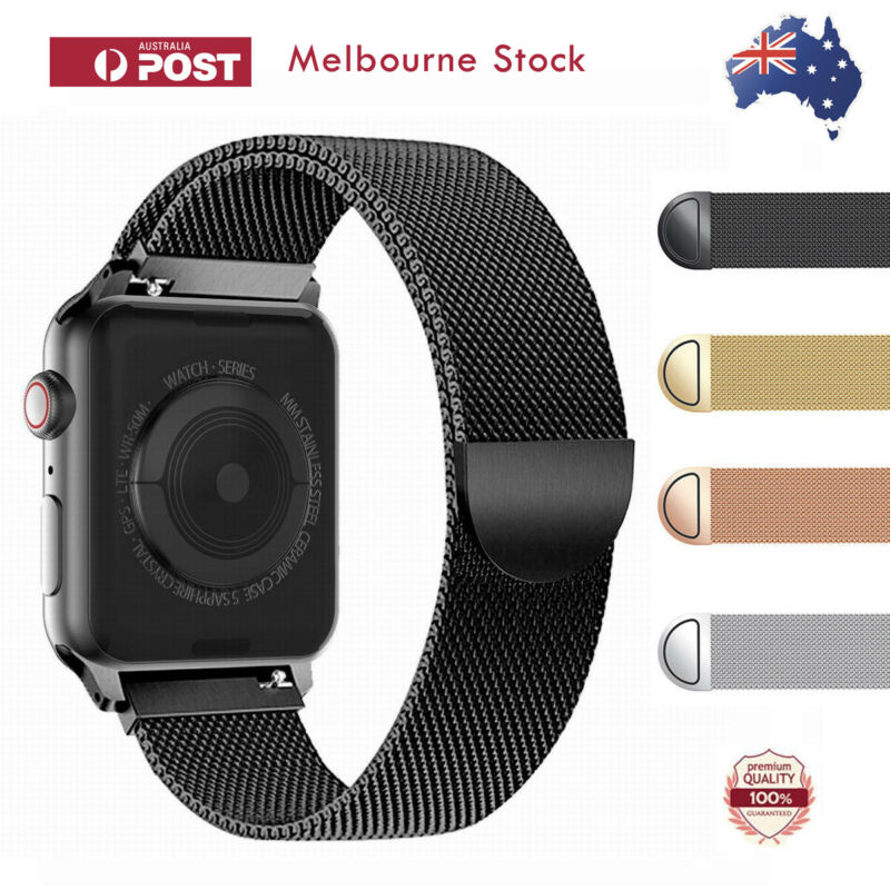 AU11.66 • Buy For Apple Watch Series 5 4 3 2 1 Stainless Steel Milanese Strap Band 44 42 40 38
