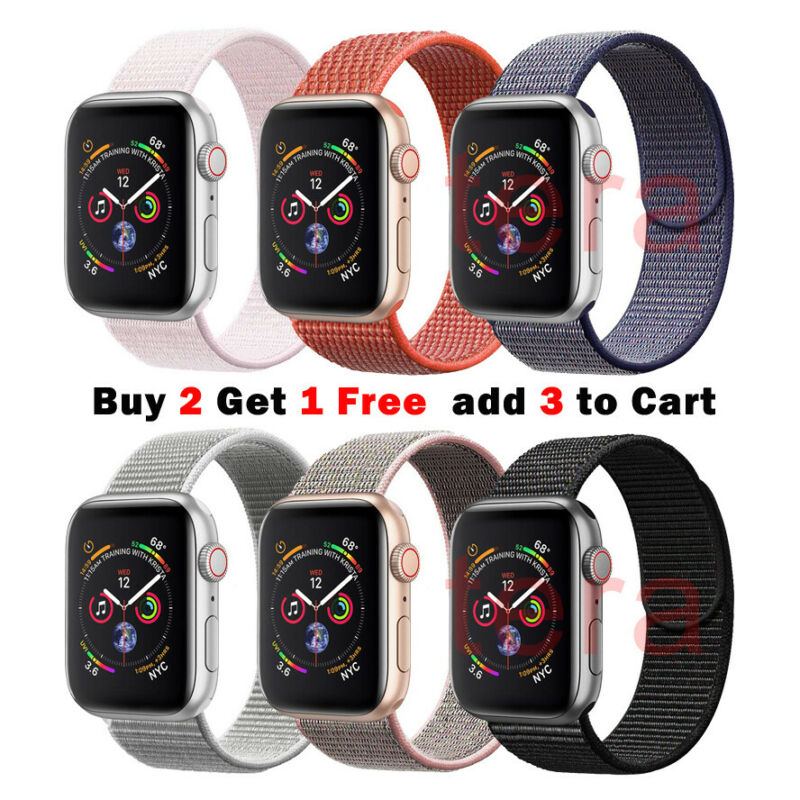 AU8.99 • Buy Sport Nylon Woven Loop Strap IWatch Band For Apple Watch Series 5 4 3 21 40mm 44