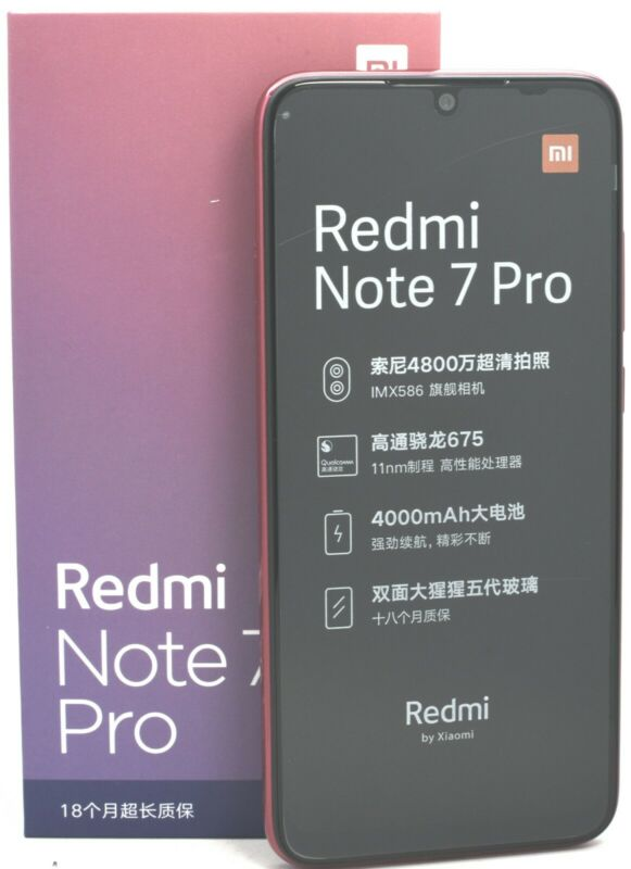 USED - Xiaomi Redmi Note 7 Pro 128GB (FACTORY UNLOCKED) 48MP (Global) Red • 199.99$