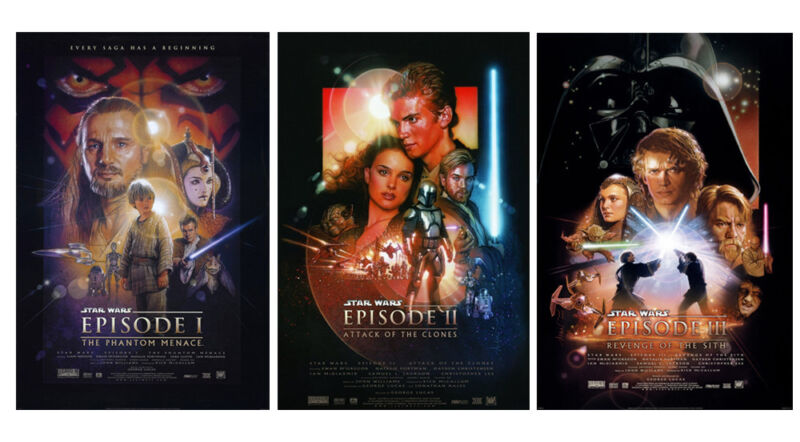 $ CDN27.25 • Buy Set Of Star Wars: Episode Movie Silk Fabric Poster Vader 11 X17  3 Posters