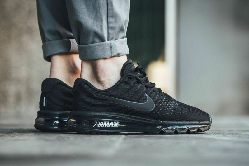 $119.99 • Buy Nib Nike Air Max 2017 Men's Running Shoe 849559 004 Black/black/black All Sizes