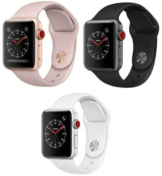 $ CDN286.92 • Buy Apple Watch Series 3 38mm 42mm GPS + Cellular Pink Gold Space Gray Silver MINT