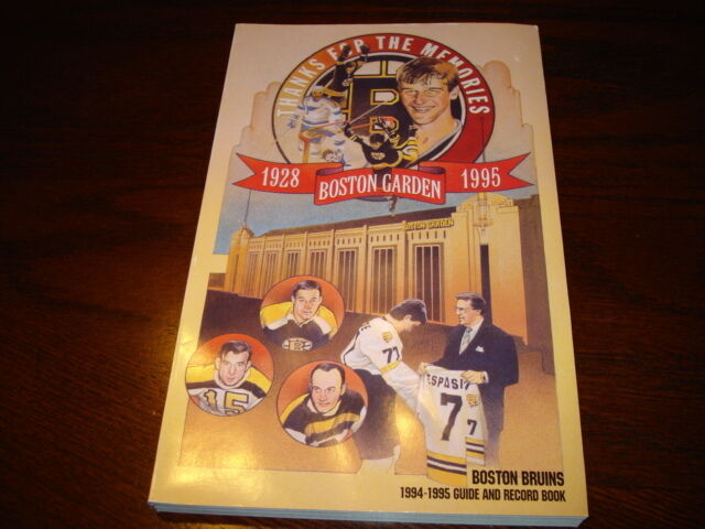 Thanks For The Memories Boston Garden Last Year Record Book And Guide • 4.99$