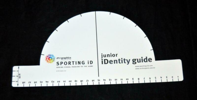 Sporting ID Senscilia Football Letters Template Curved/straight Ruler Junior • 10.66$