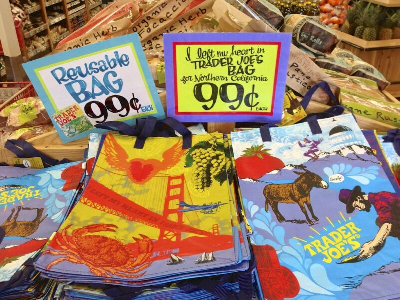⚡️ Trader Joe's 2019 Reusable Grocery Totes Shopping Bags From Mystery Packs NEW • 8.75$