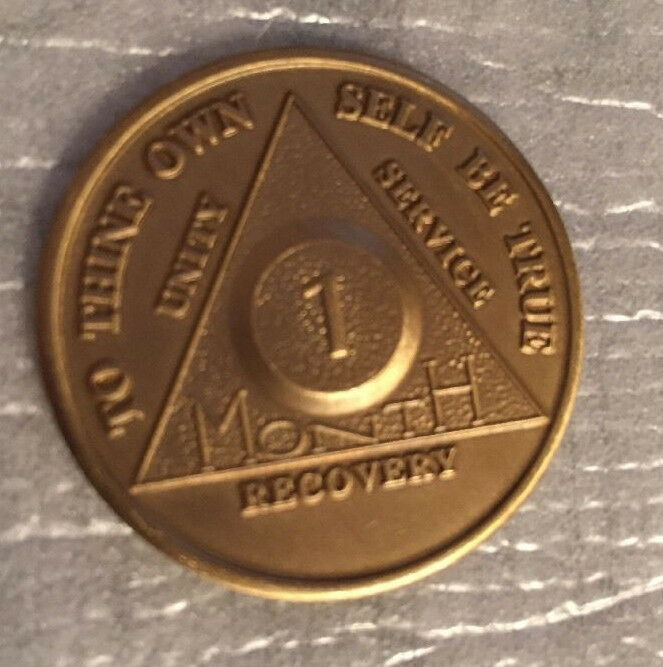 $1.59 • Buy Alcoholics Anonymous 30 Day Recovery Coin Chip Medallion Medal Token AA Days