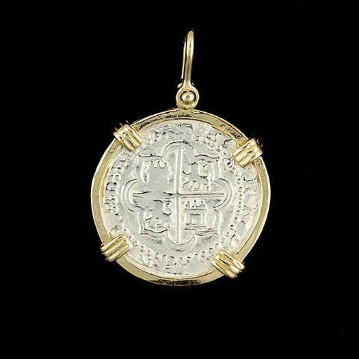 Atocha Sunken Treasure Jewelry - Medium Pieces Of 8 Silver Coin Pendant • 84.95$