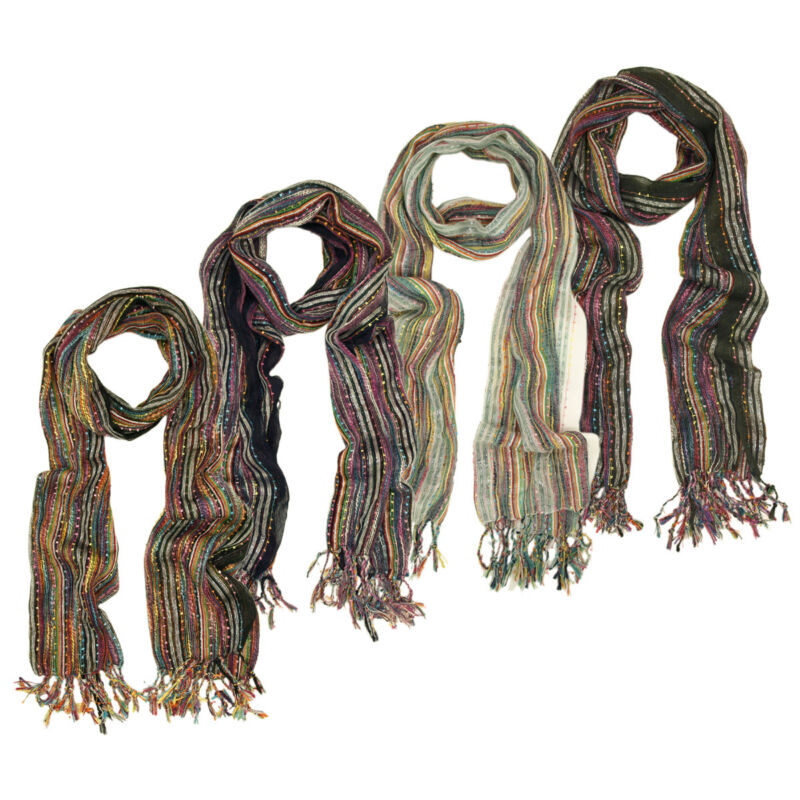 $6.99 • Buy Unique Multi Color Trendy Glitter Scarf - Different Colors Available