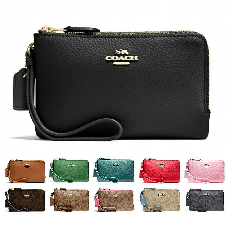 a7c730a707fc0 New Coach Double Corner Zip Wristlet F87590 F87591 With Gift Box • 37.95