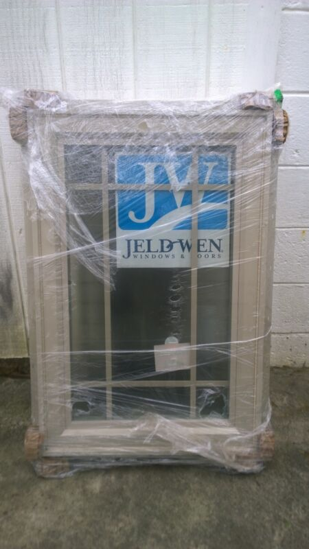 NEW: Sandstone-Color Home Vinyl CASEMENT WINDOW W/ Obscured Tempered Glass 24x36 • 369.95$