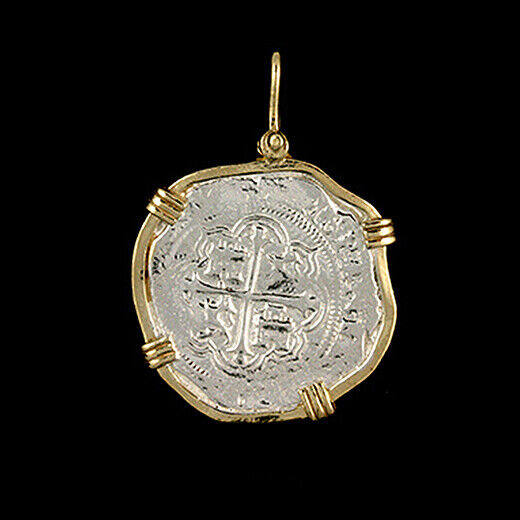 Atocha Sunken Treasure Jewelry - Large Pieces Of 8 Silver Coin With Date Pendant • 149.95$