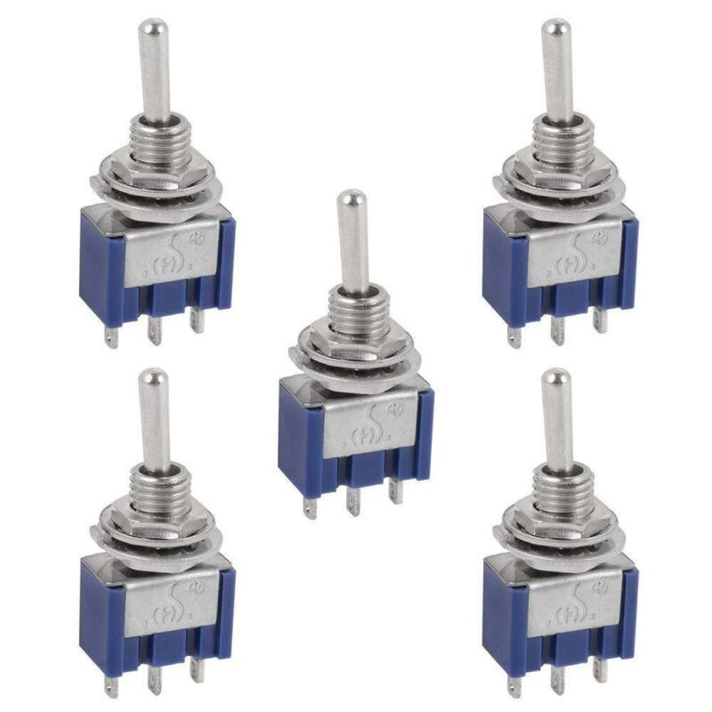 5 Pcs AC ON/OFF/ON SPDT 3 Position  Micro Mini Toggle Switch 6 Amp, AC125V • 5.49$