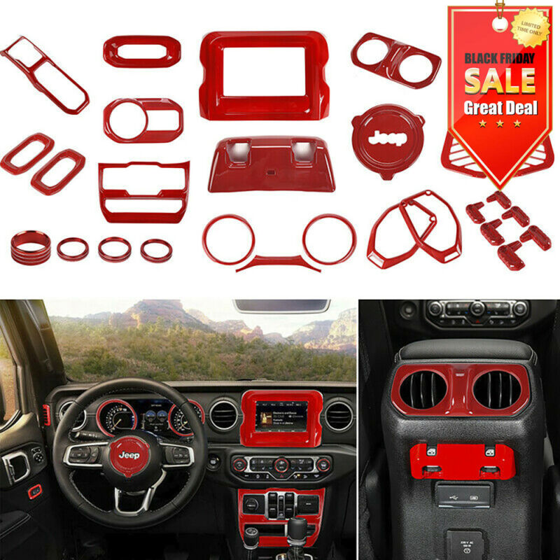$199.49 • Buy 29Pcs/set For 2018+ Jeep Wrangler JL Interior Accessories Cover Trim Kit Red