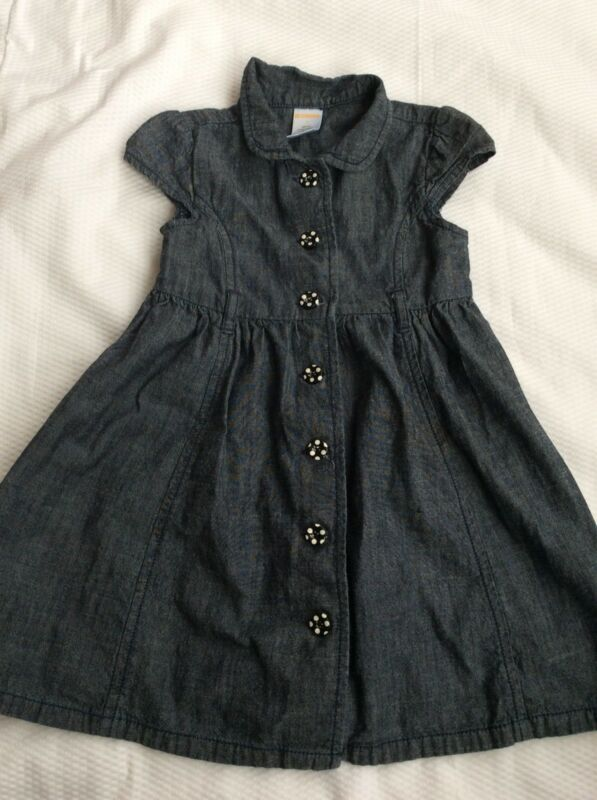 $2.50 • Buy Girls Gymboree 3 Bee Chic Dress  Chambray Denim Fabric