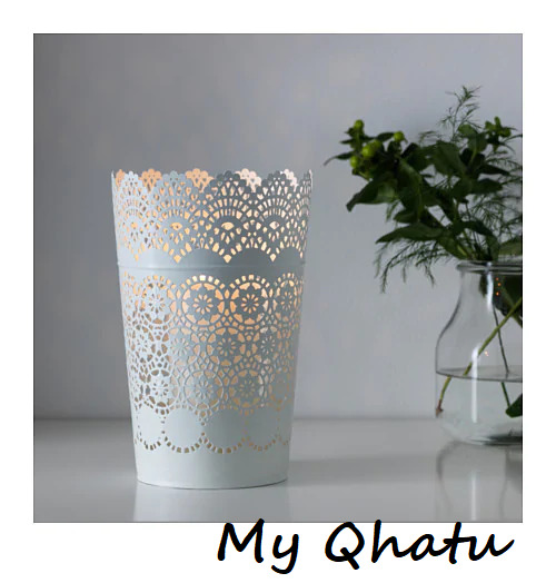 $10.20 • Buy IKEA SKURAR 9   Lantern For Block Candle Lace Steel White 402.360.44 NEW