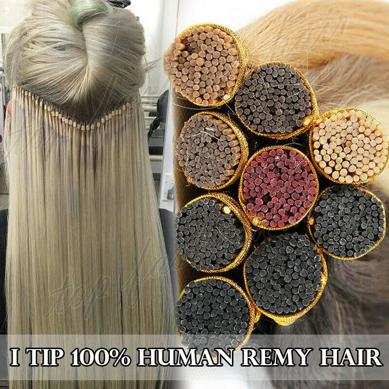 $21.13 • Buy 300 Strands I Tip Hair Keratin Stick Glue Human Remy Hair Extensions 1g/s P440