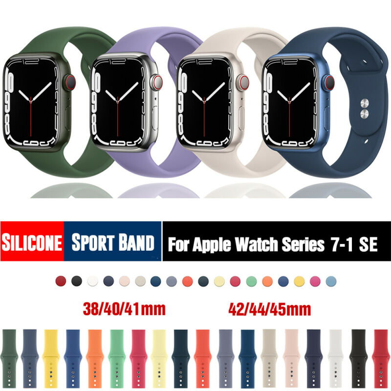 $ CDN5.19 • Buy 38/42/40/44mm Silicone Sports Band IWatch Strap For Apple Watch Series 5 4 3 2 1