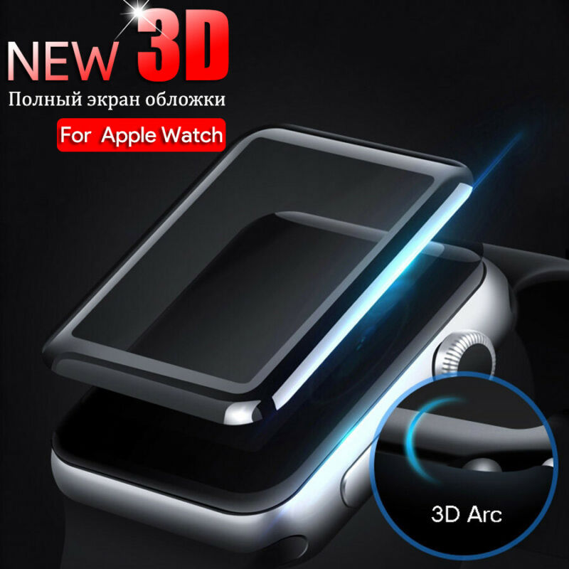 $ CDN2.11 • Buy For Apple Watch Series 5,4,3,2,1 Curved Tempered Glass Screen Protector 38~44mm