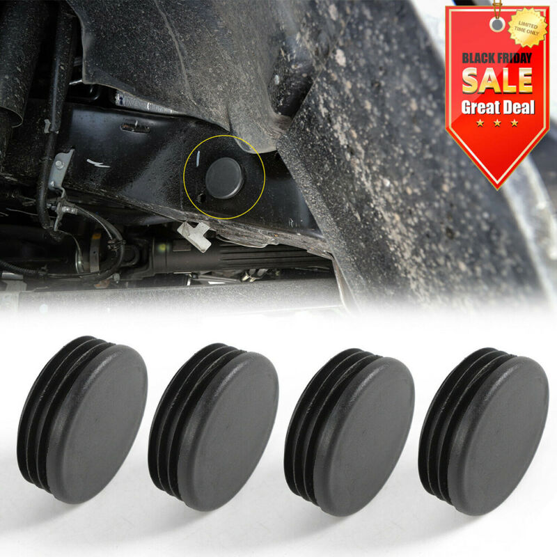 4x Black ABS Chassis Frame Hole Cover Trim For Jeep Wrangler JL 2018+ • 18.59$