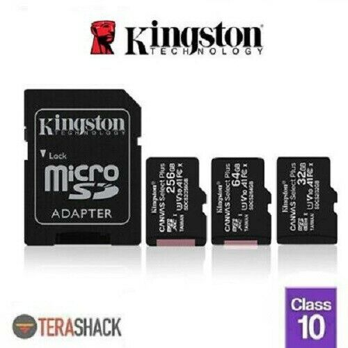 Kingston Micro SD Card 16GB 32GB 64GB 128GB TF Class 10 Android Nintendo Samsung • 5.99$