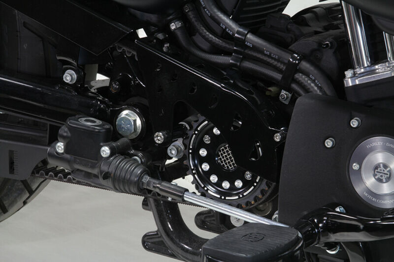 Outlaw Black Pulley Cover Kit,for Harley Davidson,by V-Twin 04-UP Sportster • 59.95$