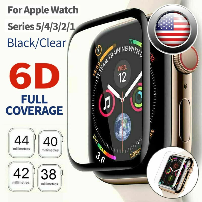 $ CDN3.12 • Buy Tempered Glass Screen Protector Full Edge For IWatch Apple Watch Series 5 4 3 2
