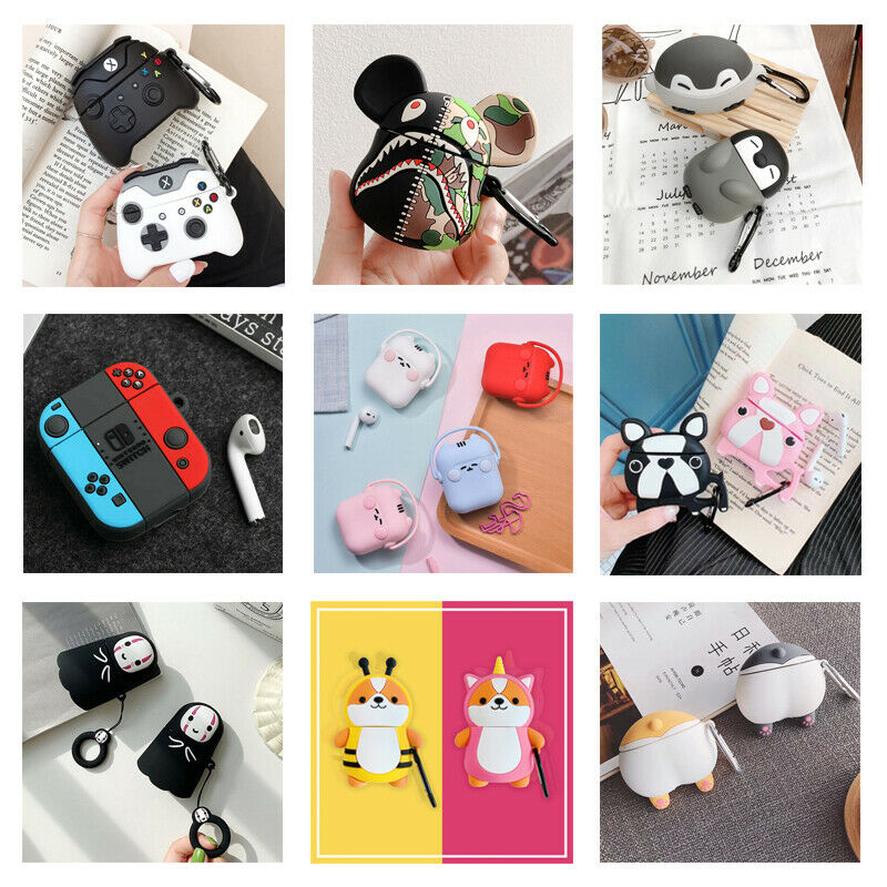 $ CDN4.72 • Buy 3D Cute Cartoon Silicone Airpod Protective Case Cover Skin For Airpods 1/2/Pro 3