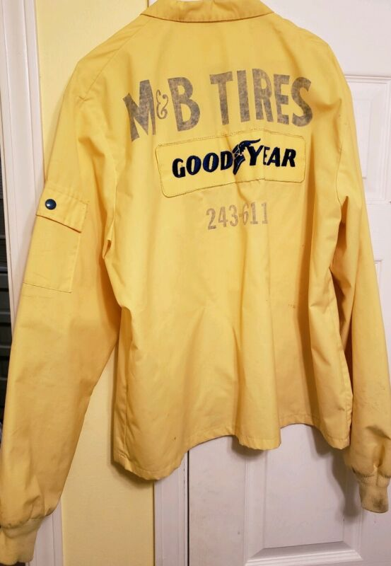 Vtg 1970's Goodyear Yellow M&B Tires Official Racing Jacket Coat Craig Work • 99.99$