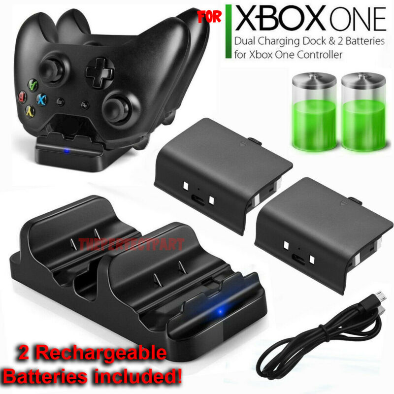 $19.98 • Buy For XBOX ONE Dual Charging Dock Station Controller Charger Rechargeable Battery