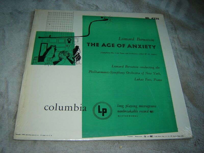 $28 • Buy Columbia ML 4325 LP SEALED Bernstein: Age Of Anxiety (Andy Warhol Cover?) Rare