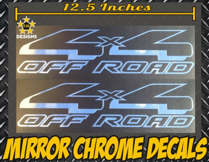 $8.89 • Buy 4x4 Truck Bed Decal Set CHROME MIRROR For Ford F-150, Super Duty F-250, Ranger