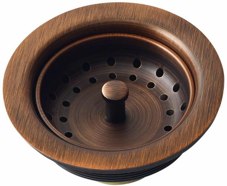 $47.99 • Buy Antique Copper Kitchen Sink Drain Removable Post Style Basket Strainer 3.5 Inch