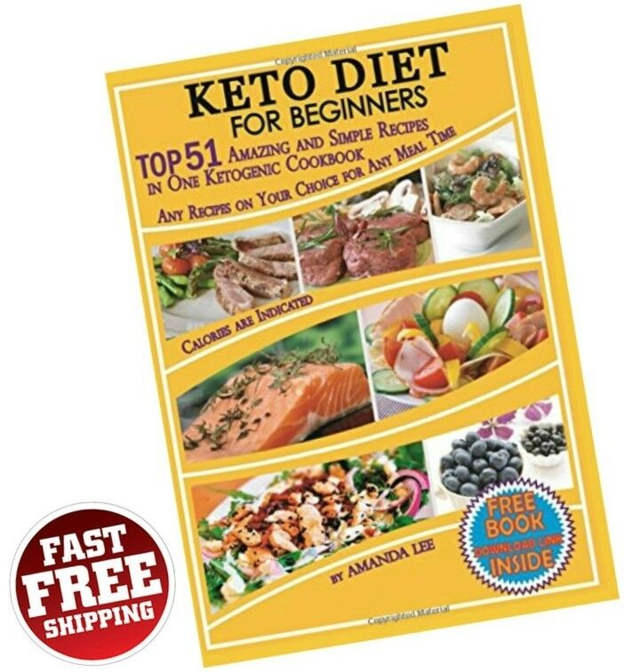 Keto Diet Recipes Beginners Ketogenic Cookbook Weight Loss Low Carb Food Dieting • 8.95$