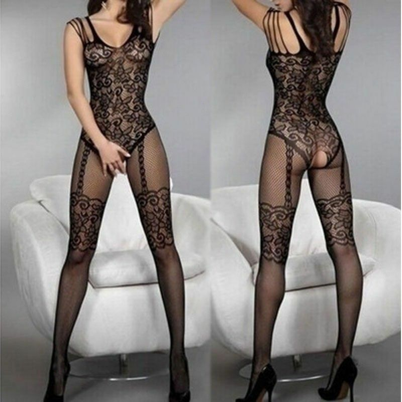 $5.88 • Buy Women Sexy Lingerie Sheer Fishnet Body Stockings Sleepwear Bodysuit Nightwear