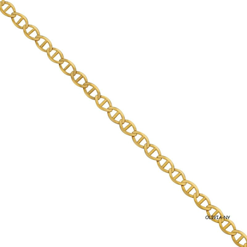 d87f67ce9 14K Solid Yellow Gold Chain Mariner Gucci Necklace Men Women - New • 62.99$