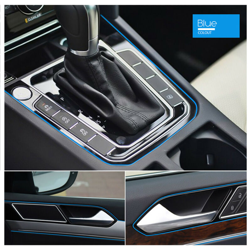 $5.54 • Buy 5M AUTO ACCESSORIES CAR Universal Interior Gap Decorative Blue Line CHROME Shiny